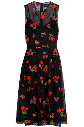 SIMONE ROCHA Embroidered cotton-blend tulle midi dress