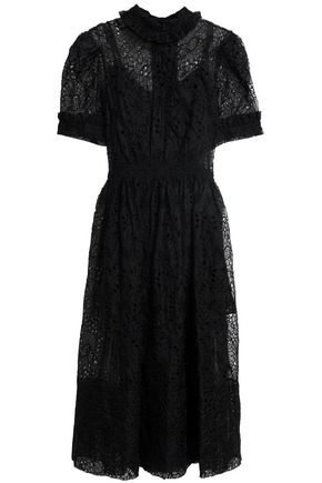 SIMONE ROCHA Ruffle-trimmed lace midi dress
