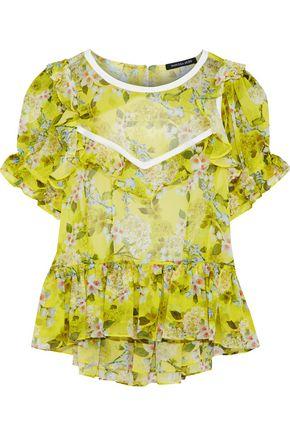 MARISSA WEBB Kinley open-back floral-print silk-georgette blouse