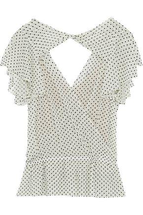 MARISSA WEBB Presley wrap-effect flocked tulle blouse
