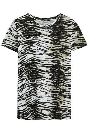 MAJESTIC FILATURES Zebra-print stretch-jersey T-shirt