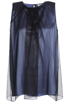 BRUNELLO CUCINELLI Layered tulle and satin top