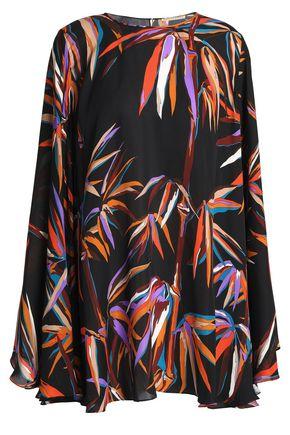 EMILIO PUCCI Cape-effect floral-print silk blouse