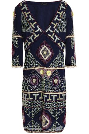 ANTIK BATIK Embellished georgette dress