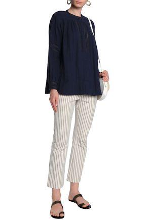 ANTIK BATIK Cotton-chambray blouse