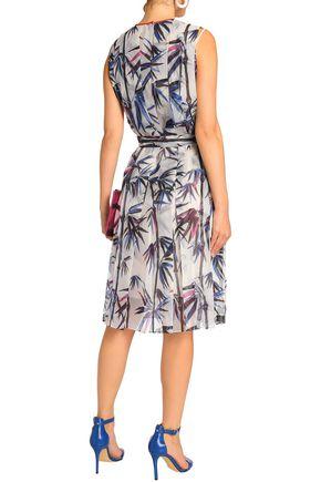 EMILIO PUCCI Belted printed burnout organza dress