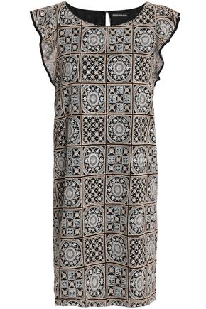 ANTIK BATIK Embellished embroidered gauze mini dress