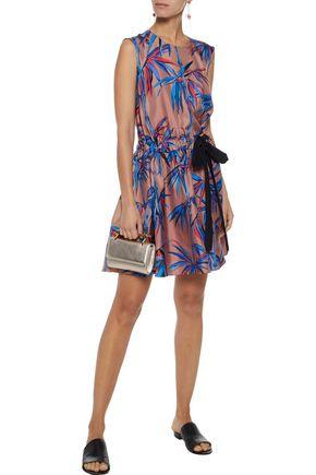 EMILIO PUCCI Bow-detailed printed silk-twill mini dress