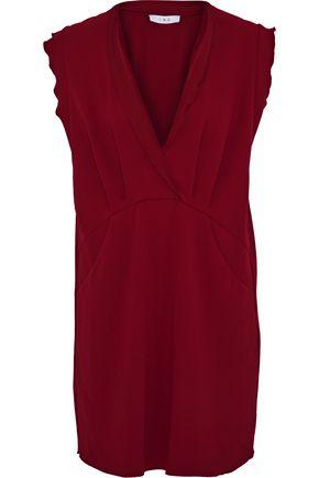 IRO Ilford ruffle-trimmed crepe mini dress