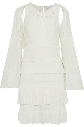 IRO Cutout embroidered gauze mini dress
