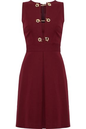 Eyelet Detailed Cotton Blend Twill Dress by Derek Lam 10 Crosby