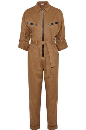 IRO Linen-blend twill jumpsuit