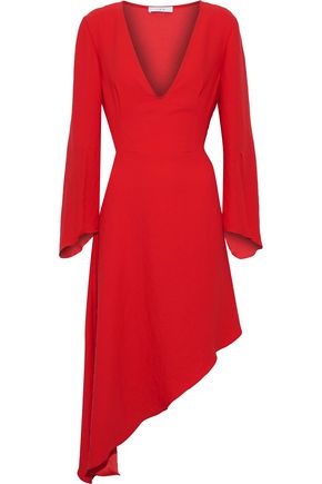 IRO Asymmetric fluted crepe dress