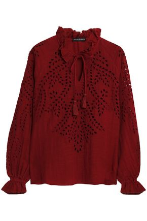ANTIK BATIK Broderie anglaise cotton blouse