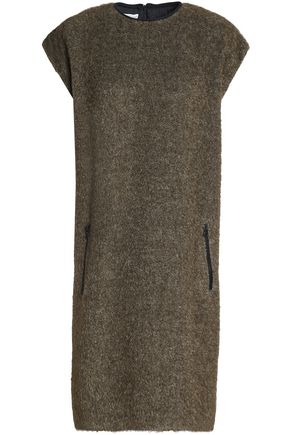 BRUNELLO CUCINELLI Brushed-bouclé dress