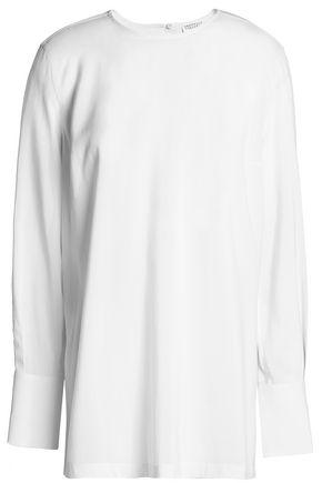 BRUNELLO CUCINELLI Stretch-silk crepe de chine blouse