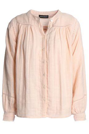 ANTIK BATIK Crochet-trimmed cotton blouse