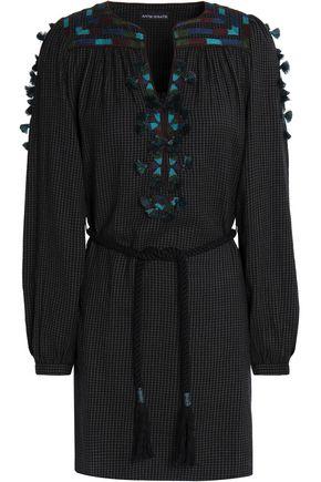 ANTIK BATIK Embroidered cotton-gauze dress