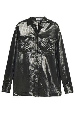 BRUNELLO CUCINELLI Metallic silk-blend shirt