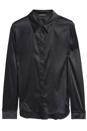 ROBERTO CAVALLI Stretch-silk satin shirt