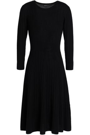 JAMES PERSE Fluted ribbed wool dress
