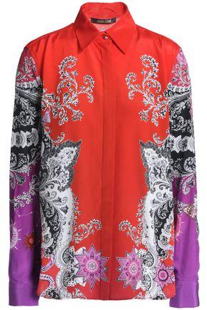 ROBERTO CAVALLI Printed silk crepe de chine shirt