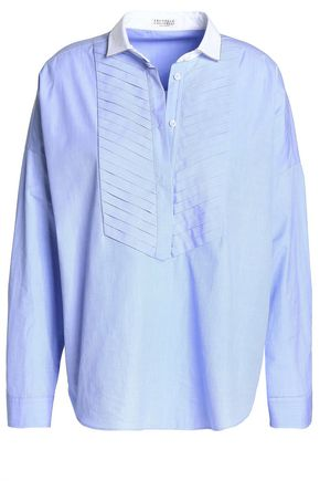 BRUNELLO CUCINELLI Pintucked cotton shirt