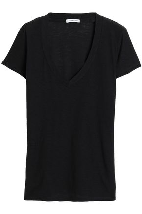 James Perse WOMAN COTTON AND MODAL-BLEND JERSEY T-SHIRT CHARCOAL