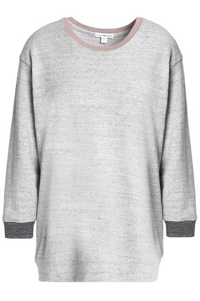 JAMES PERSE Mélange cotton-terry sweatshirt