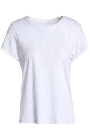 SKIN Slub cotton-jersey pajama top