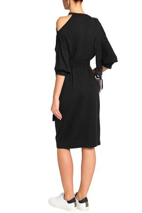 BRUNELLO CUCINELLI Bead-embellished cashmere and silk-blend dress