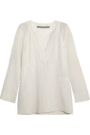 RAQUEL ALLEGRA Cotton-gauze top