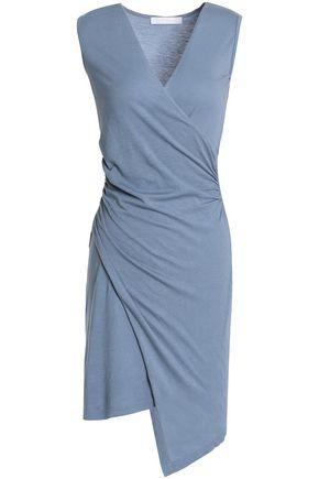 KAIN Wrap-effect cotton and modal-blend jersey mini dress