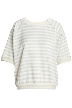 KAIN Printed cotton-blend terry top