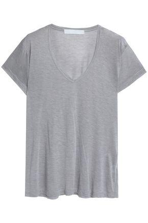 KAIN Mélange modal and silk-blend T-shirt