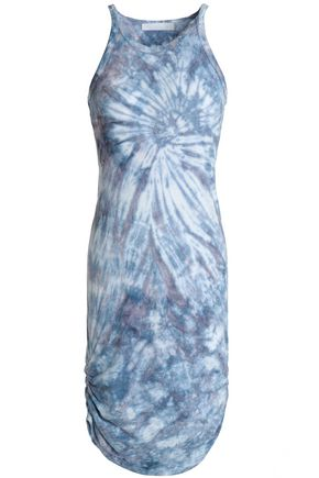 KAIN Tie-dye cotton and modal-blend jersey mini dress