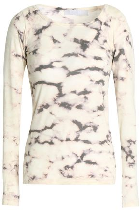 KAIN Tie-dyed cotton and modal-blend top