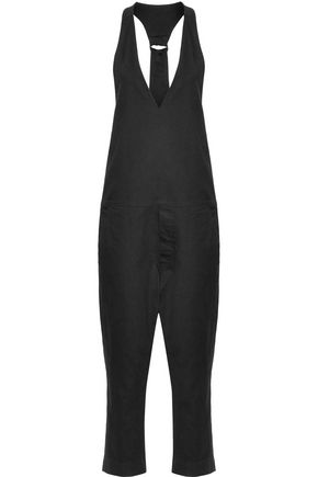 BASSIKE Cotton-blend twill jumpsuit