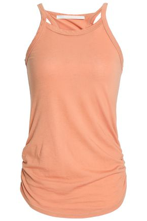 KAIN Ruched striped stretch-knit tank