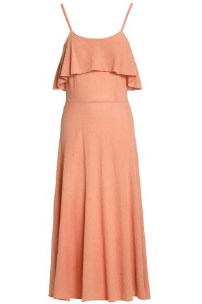KAIN Ruffled tie-dyed crepe maxi dress