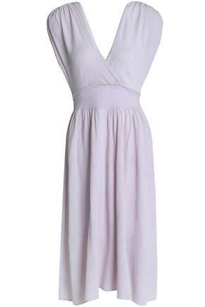 KAIN Wrap-effect crinkled-gauze midi dress