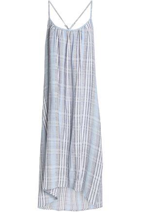 KAIN Checked cotton-gauze midi dress