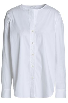 BRUNELLO CUCINELLI Cotton-blend poplin shirt