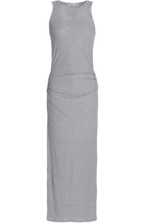 KAIN Ruched cotton and modal-blend jersey maxi dress