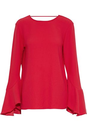 IRO Cutout fluted crepe blouse
