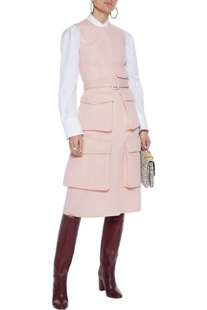 Simone Rocha Dresses SIMONE ROCHA WOMAN BELTED NEOPRENE DRESS BABY PINK
