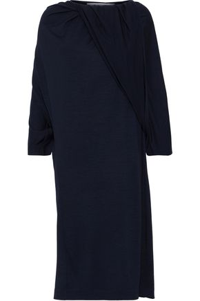 CHALAYAN Gathered wool-jersey dress