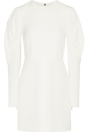 TIBI Gathered twill mini dress