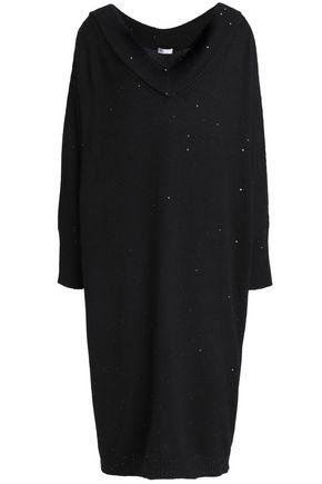 BRUNELLO CUCINELLI Sequin-embellished cashmere and silk-blend dress