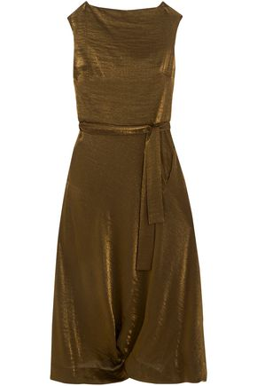 VIVIENNE WESTWOOD ANGLOMANIA Belted lamé midi dress